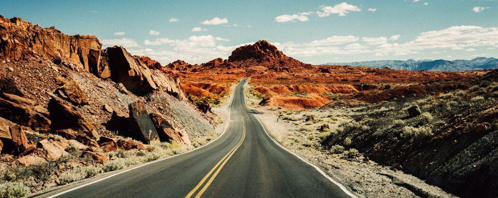 a long road through the desert