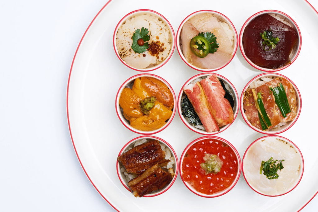 A selection of dishes, Nobu