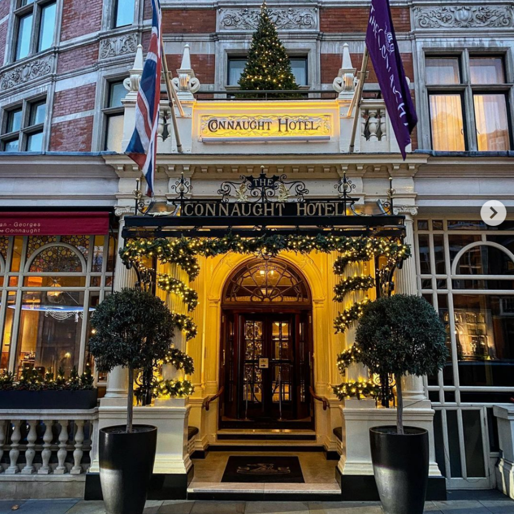 Christmas day dining - The Connaught entrance