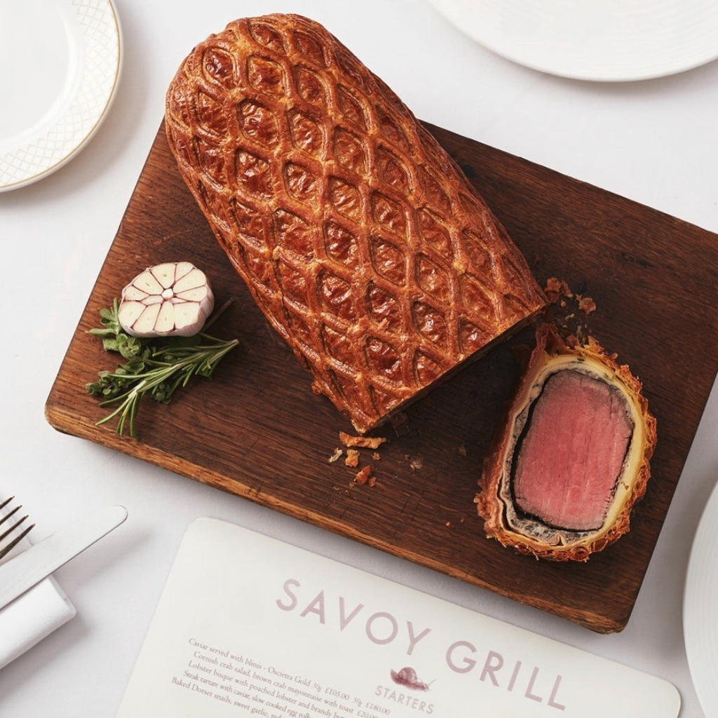 Christmas Day Dining - Savoy Grill beef wellington