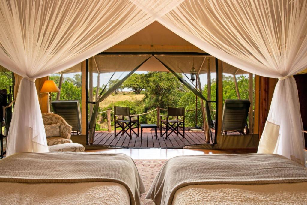 Kenya - Sand river masai mara view from the room