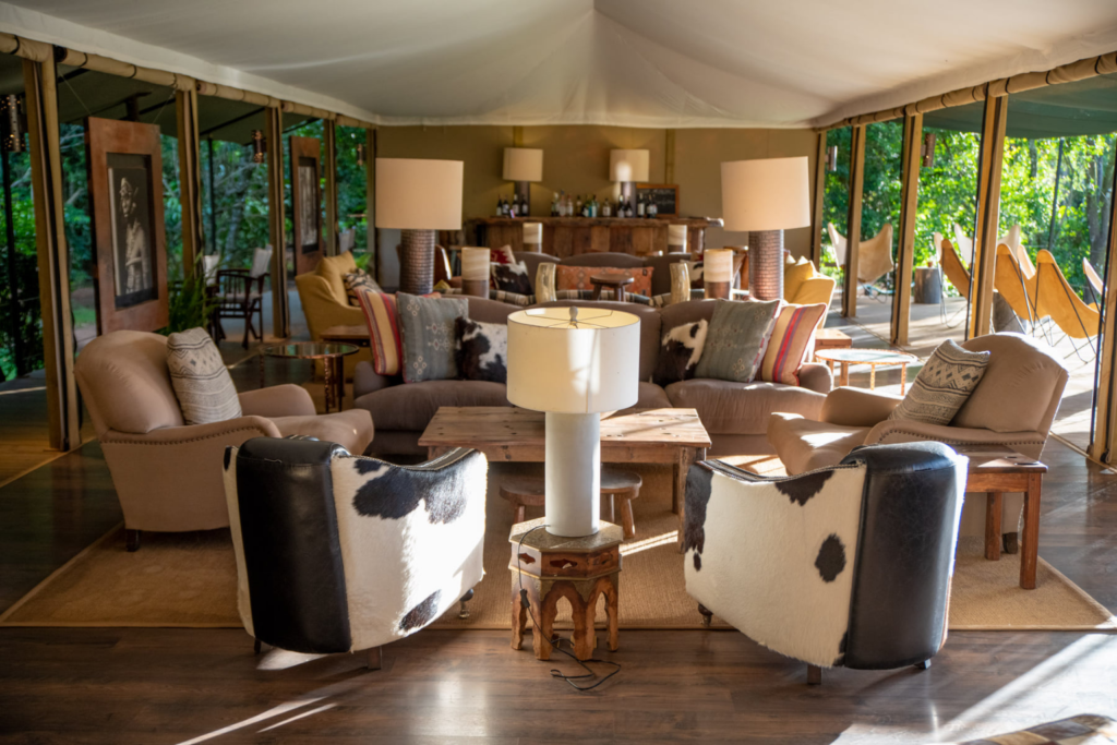 Kenya - living room of Governors' II Moran Camp