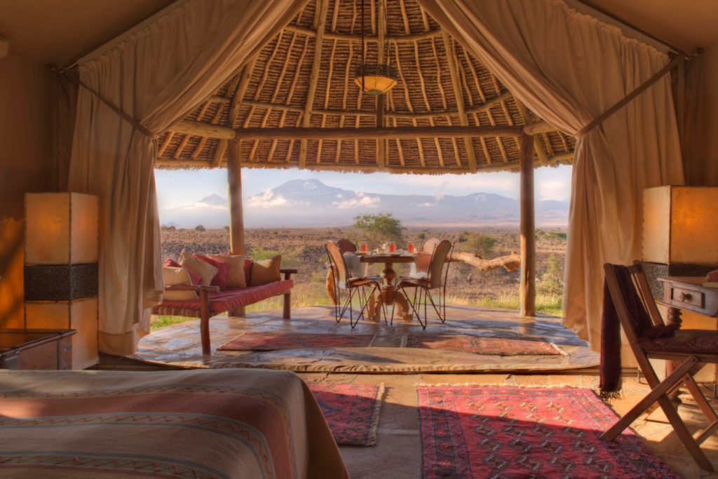 Kenya- view from the Tortilis Camp room