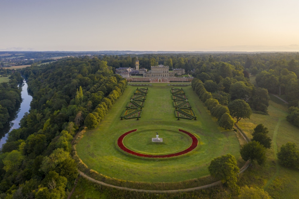 Exterior and gardens of Cliveden House