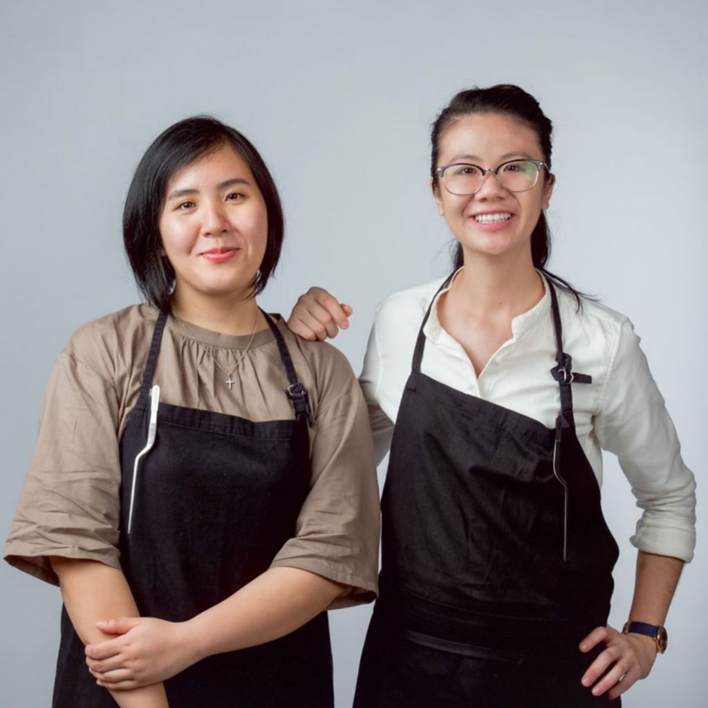 Lisa Tang with a colleague