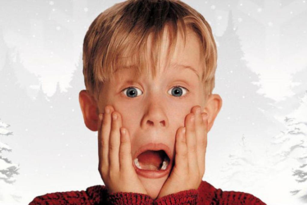 Home Alone - Kevin pulling his classic screaming face