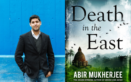 Image of The Book Club author Abir Mukherjee and the cover of Death in the East