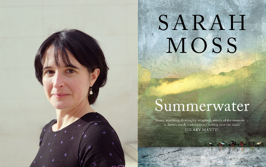 Image of The Book Club author Sarah Moss and the cover of Summerwater
