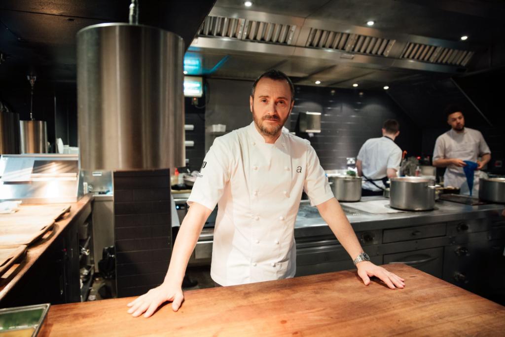 Jason Atherton in the kitchen