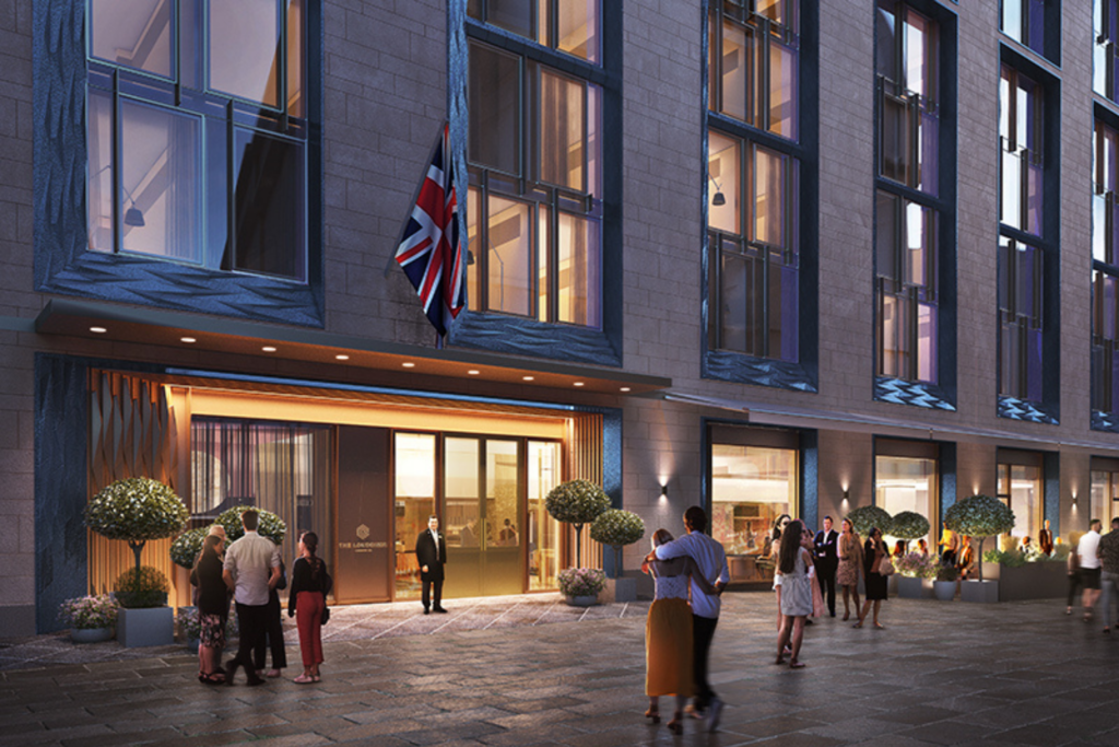 An artist's rendering of the exterior or The Londoner