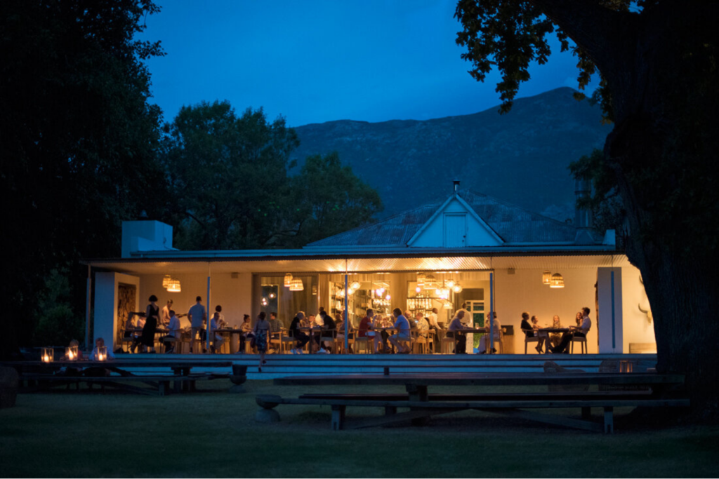 Chef's Warehouse at Franschhoek's Maison at night