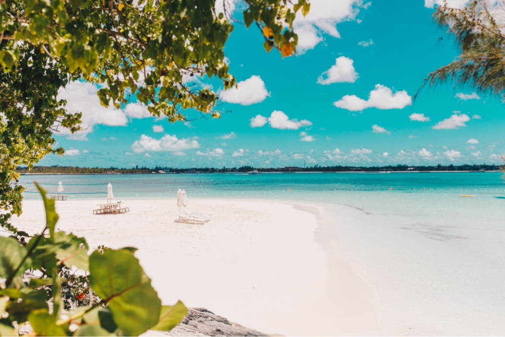 Travel inspiration: a white sand beach in the Bahamas