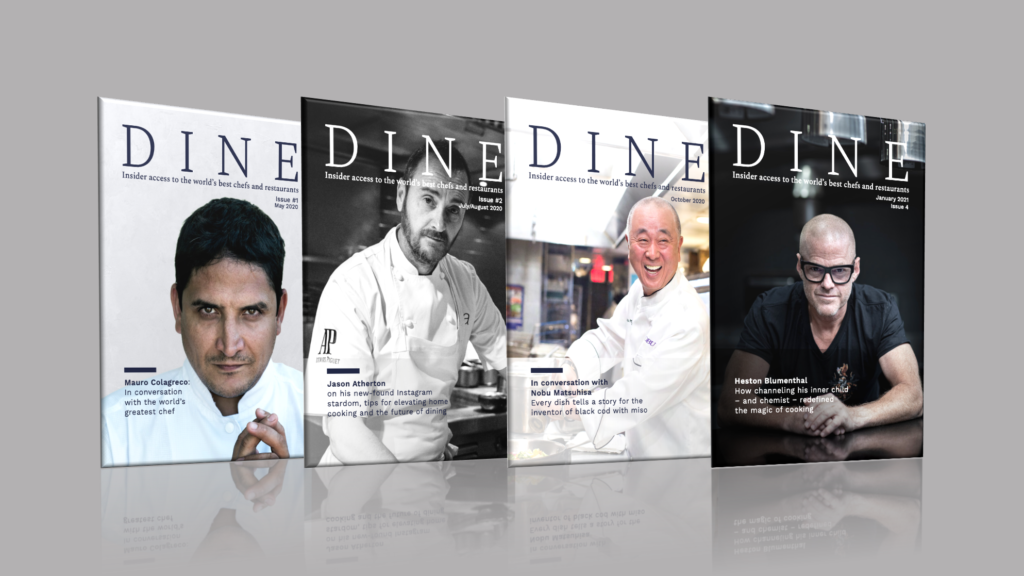 DINE magazine covers