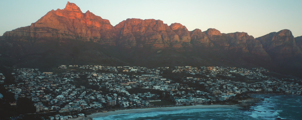 Panoramic view of the Cape Town coast
