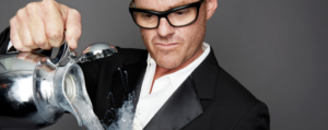 Heston Blumenthal pouring from a jug