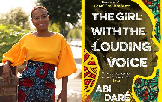 February Book Club: The Girl with the Louding Voice cover with author Abi Daré