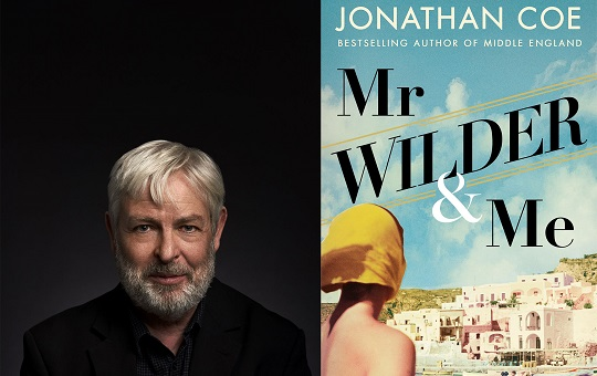 February book club: Mr Wilder and Me cover with author Jonathan Coe