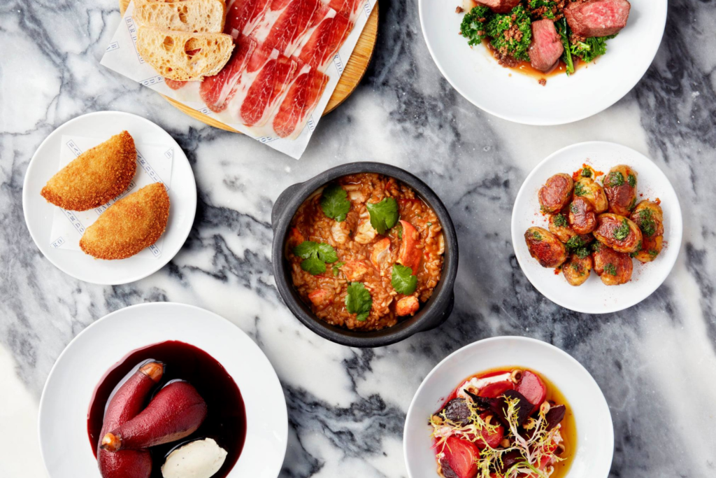 A selection of dishes from the Bar Douro meal kit