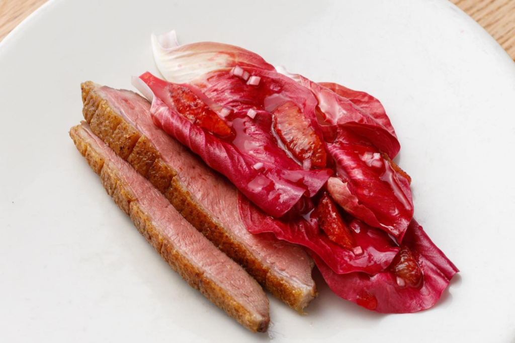A duck and blood orange dish from one of Lyle's finish-at-home meal kits
