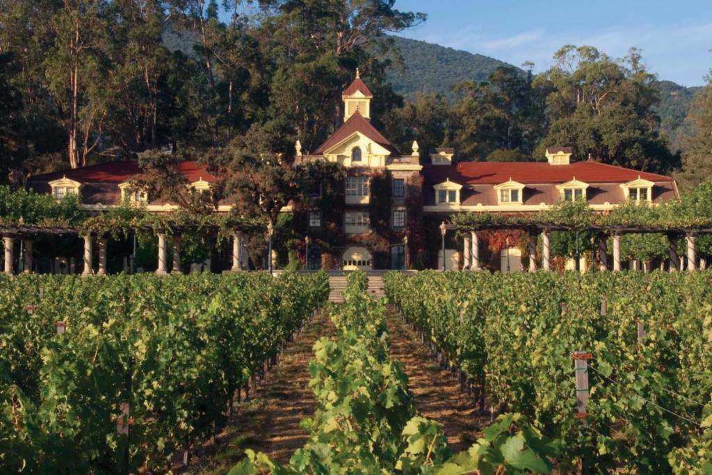 Celebrity vineyard Inglenook and chateau