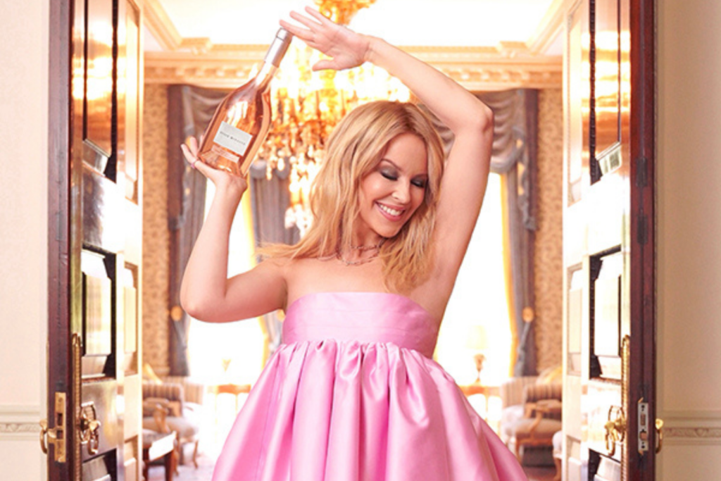 Kylie Minogue and her wine brand, Kylie