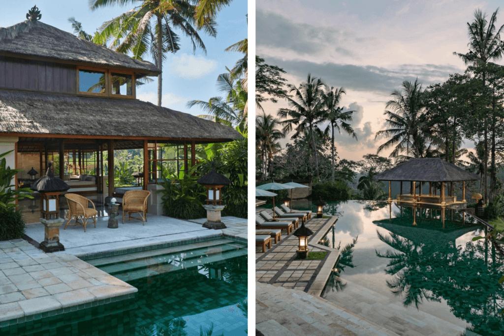 Amandari resort pool and villa