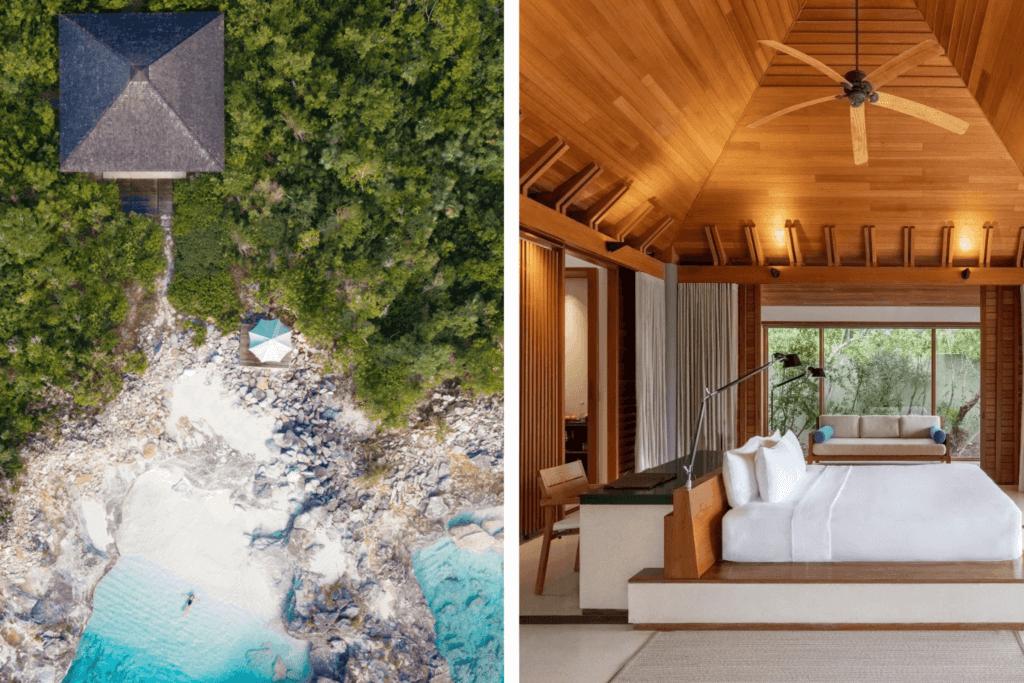 Amanyara resort beach and room