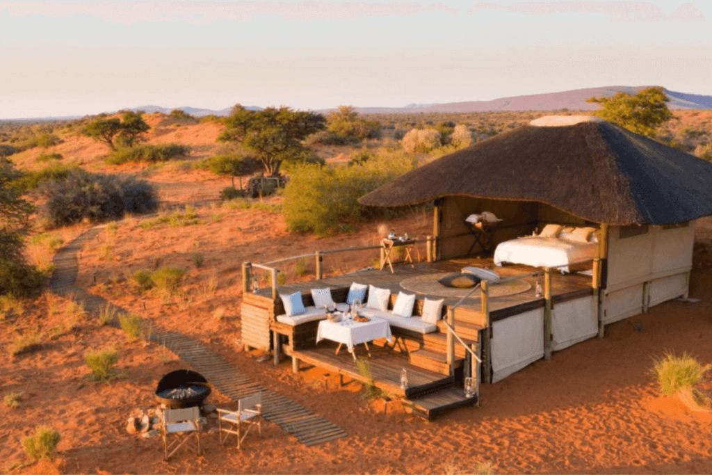 Travel trend number three: going on the trip of a lifetime, like a safari at Tswalu Kalahari, South Africa.