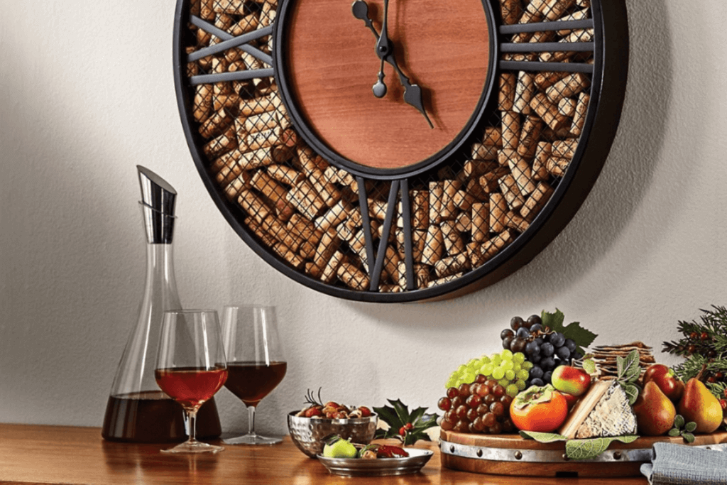 Wine and fruit bowl